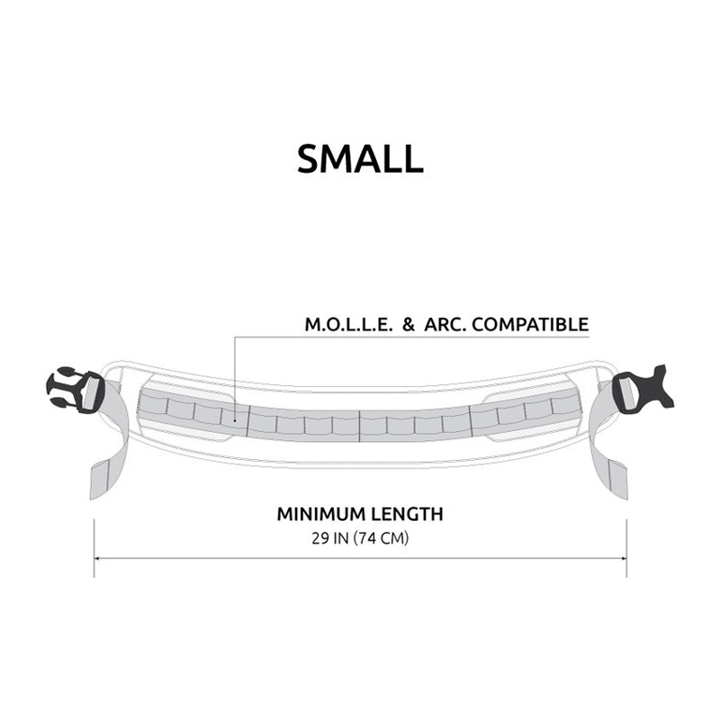 Anvil T0370 M.A.S  M.O.L.L.E Modular Accessory Slim Belt Small