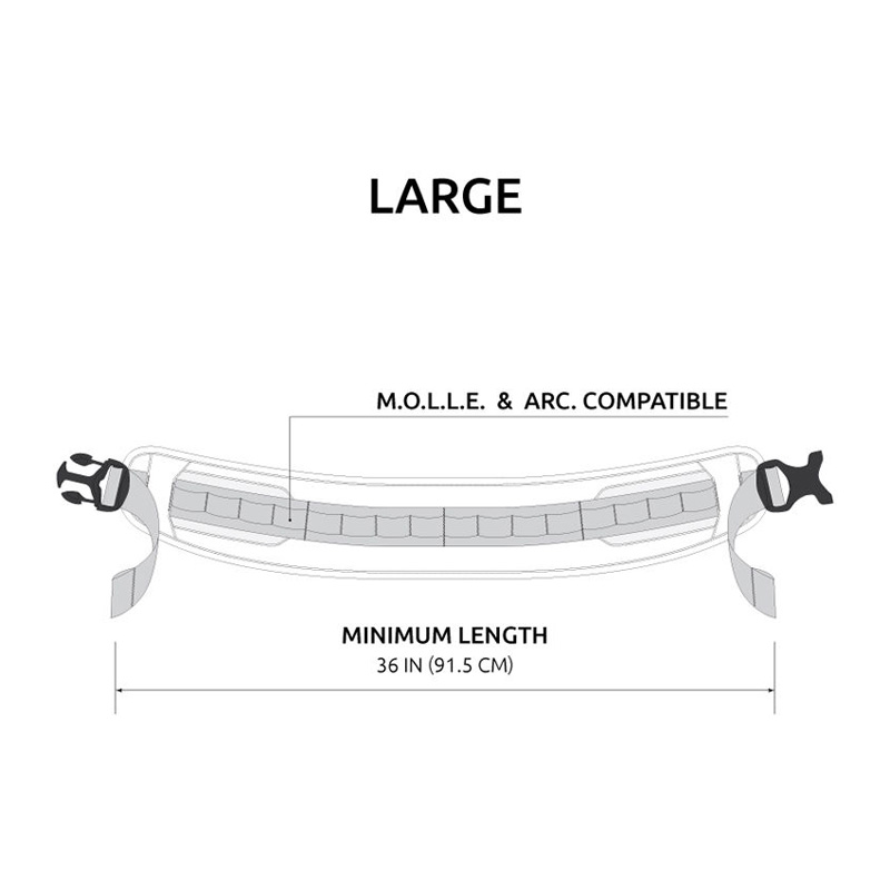Anvil T0380 M.A.S  M.O.L.L.E Modular Accessory Slim Belt Large