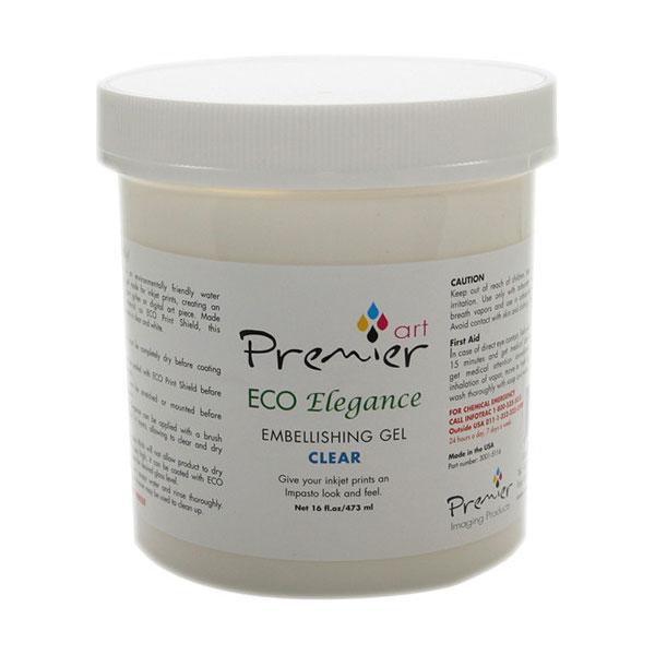 ECO Elegance Inkjet Print Embellishing Gel Clear  16 oz
