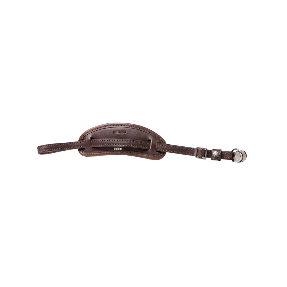 Tight Contour Camera Hand Strap Dark Brown Leather