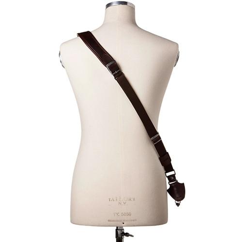 Full Beard Single Cross Strap Black Leather