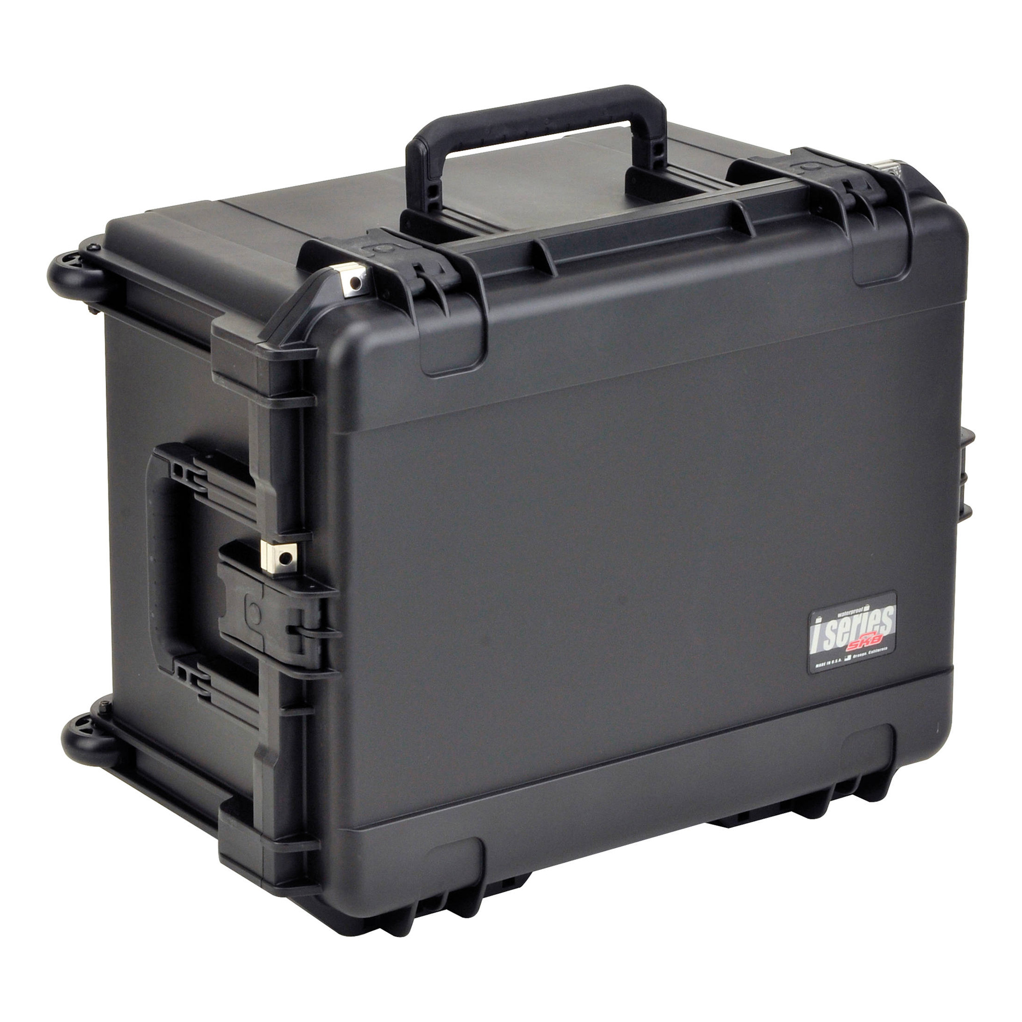 Watertight Case 12 In. Deep with Wheels and Pull Handle Cubed Foam