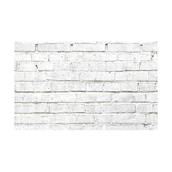 53 in. x 18 ft. Printed Background Paper White Brick