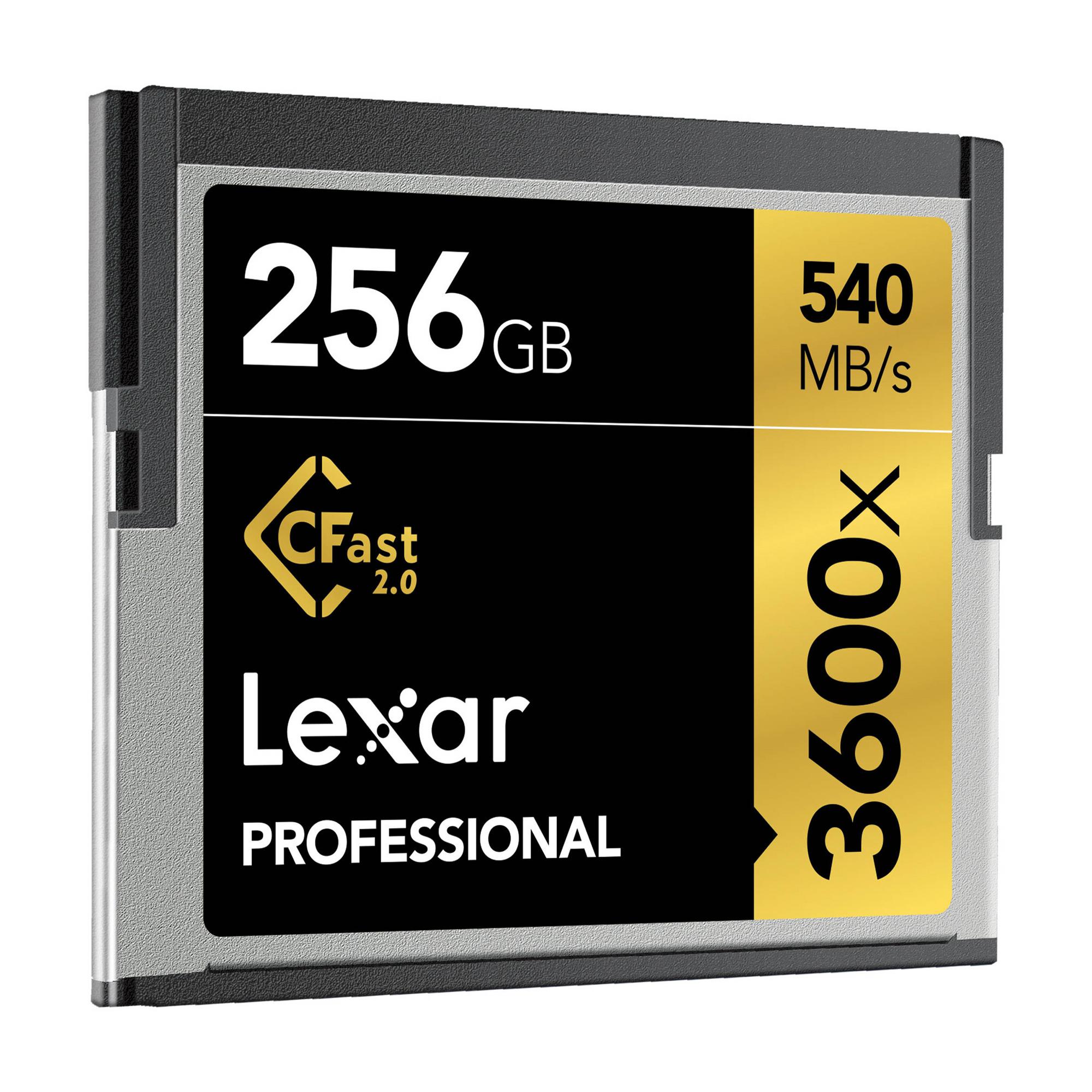 256GB Professional 3600x CFast 2.0 Memory Card
