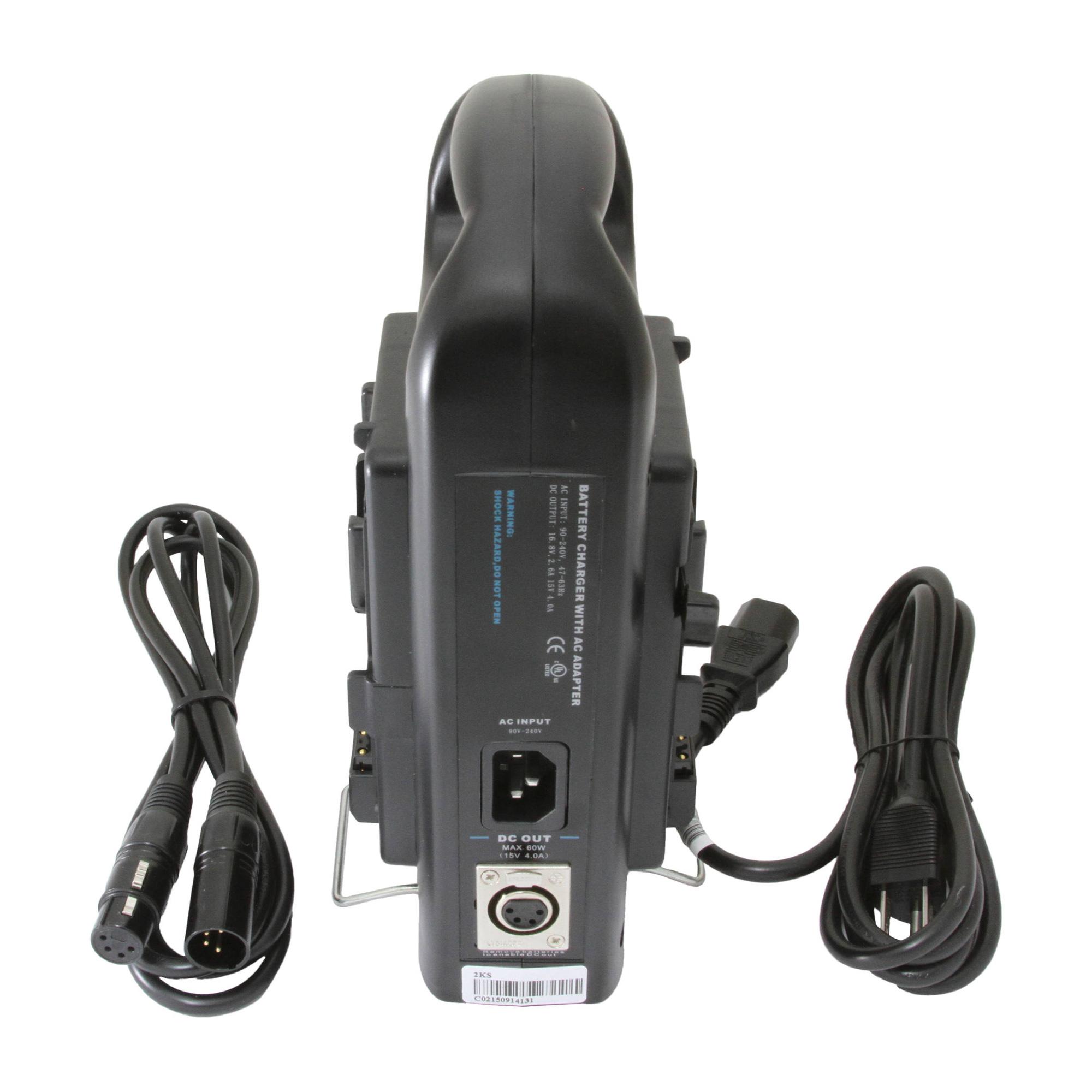 Dual Charger for V-Mount Batteries 16.8 VDC  3A