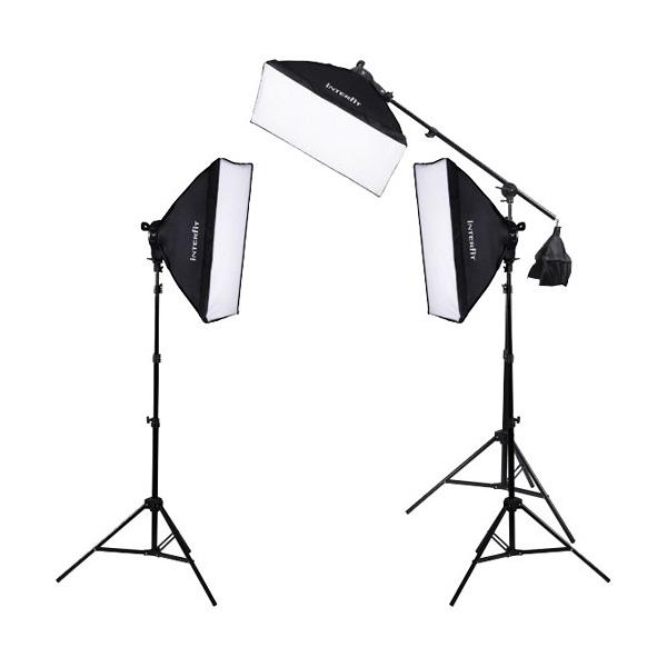 Interfit | F5 Three-Head Fluorescent Lighting Kit with Boom Arm | INT503  sc 1 st  Samyu0027s Camera & Interfit | F5 Three-Head Fluorescent Lighting Kit with Boom Arm ... azcodes.com