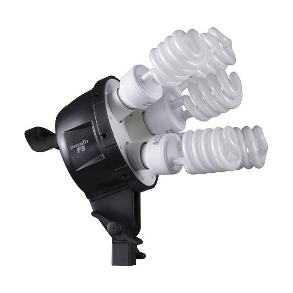 F5 Three-Head Fluorescent Lighting Kit with Boom Arm