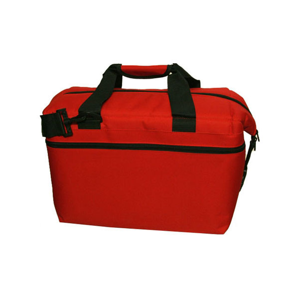 24 Pack Canvas Cooler Red