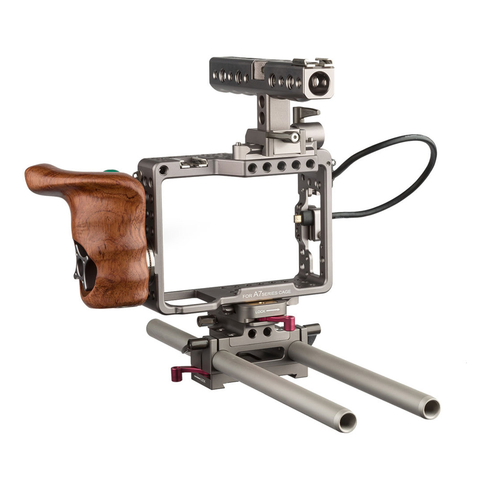 Handheld Camera Cage Rig for Sony alpha Series