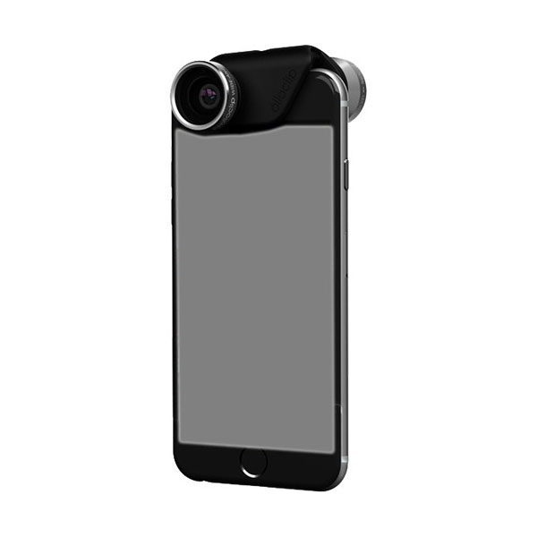 4-in-1 Photo Lens for iPhone 6s Plus Space Gray with Black Clip
