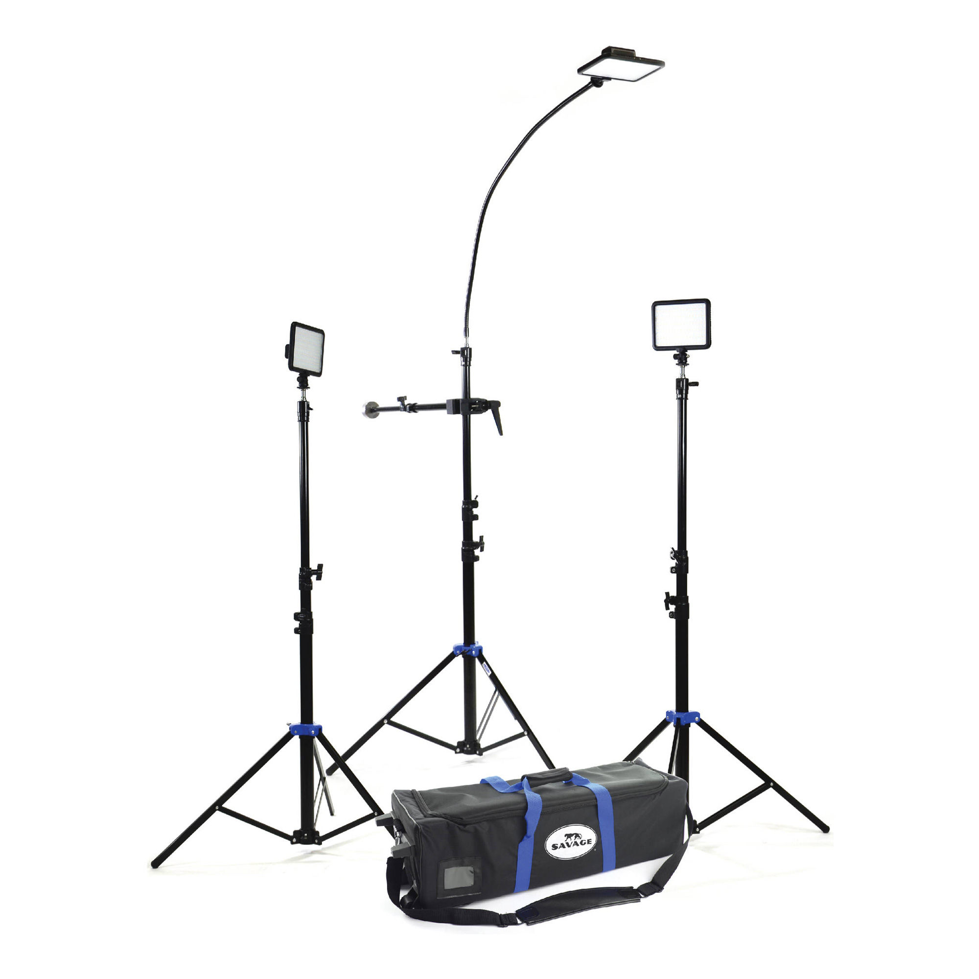 Savage   3 LED Cobra Interview Light Kit   INTV-3