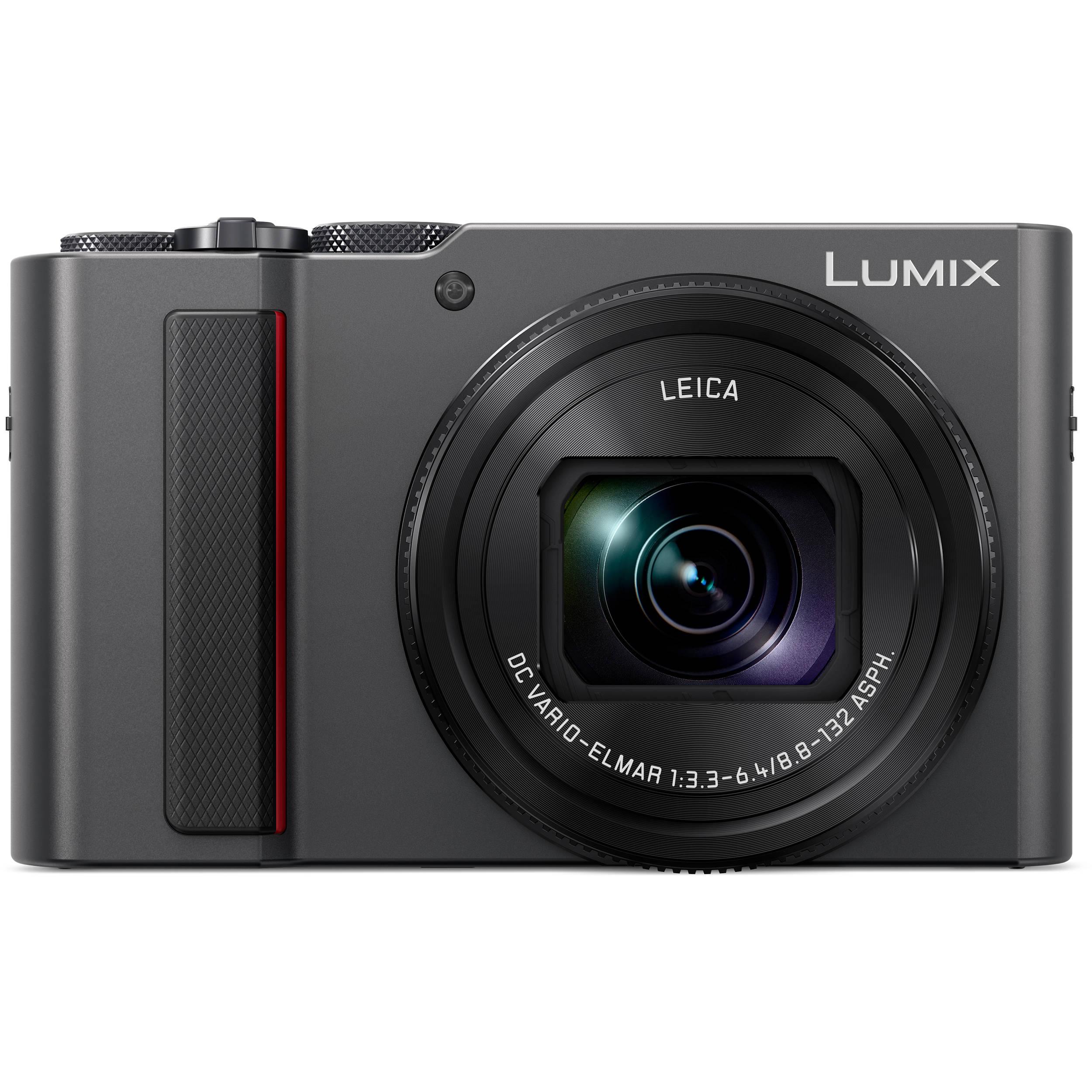 Panasonic Lumix Dc Zs200 Digital Camera Silver Leica C Lux Light Gold