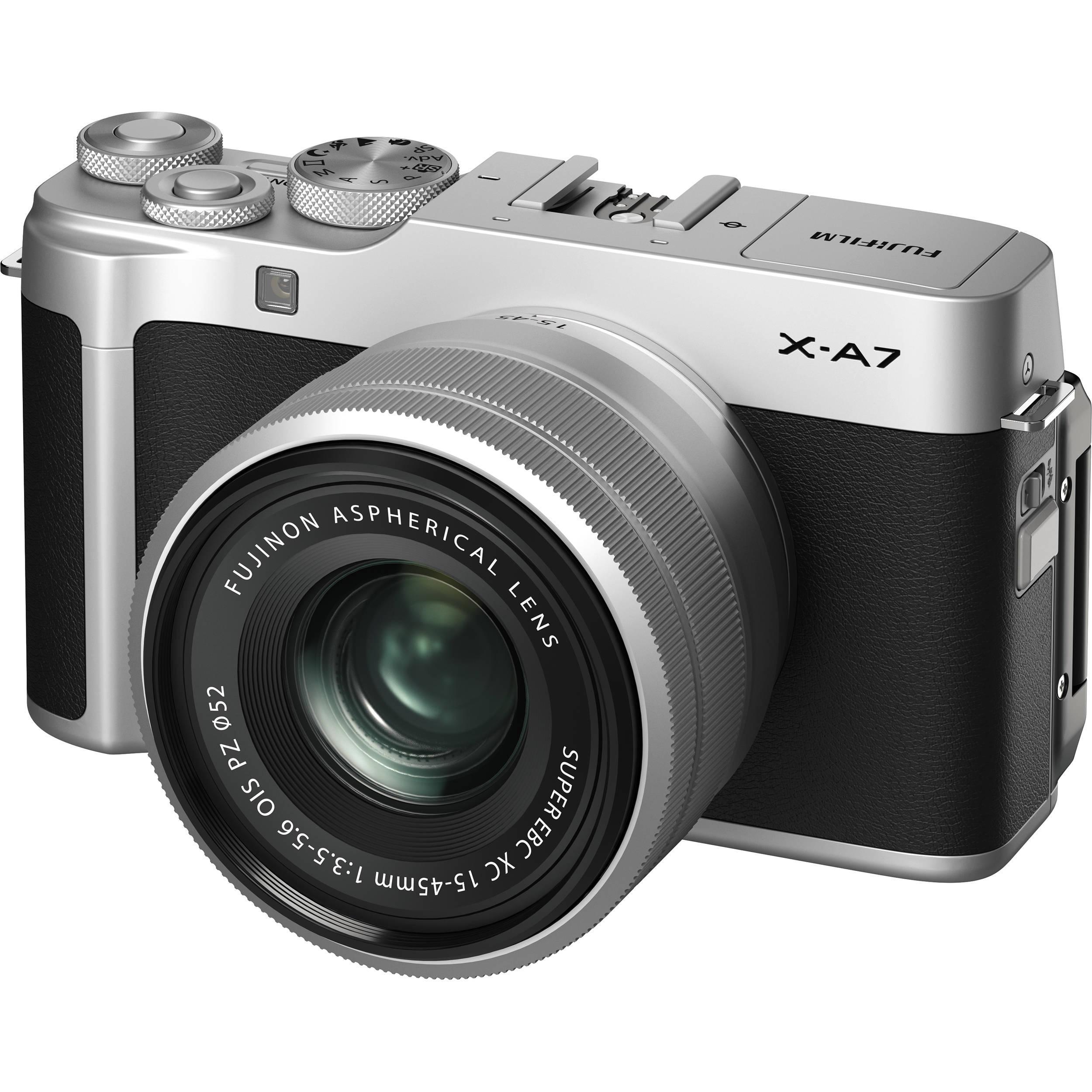 Fujifilm X-A7 Mirrorless Digital Camera with 15-45mm Lens (Silver)