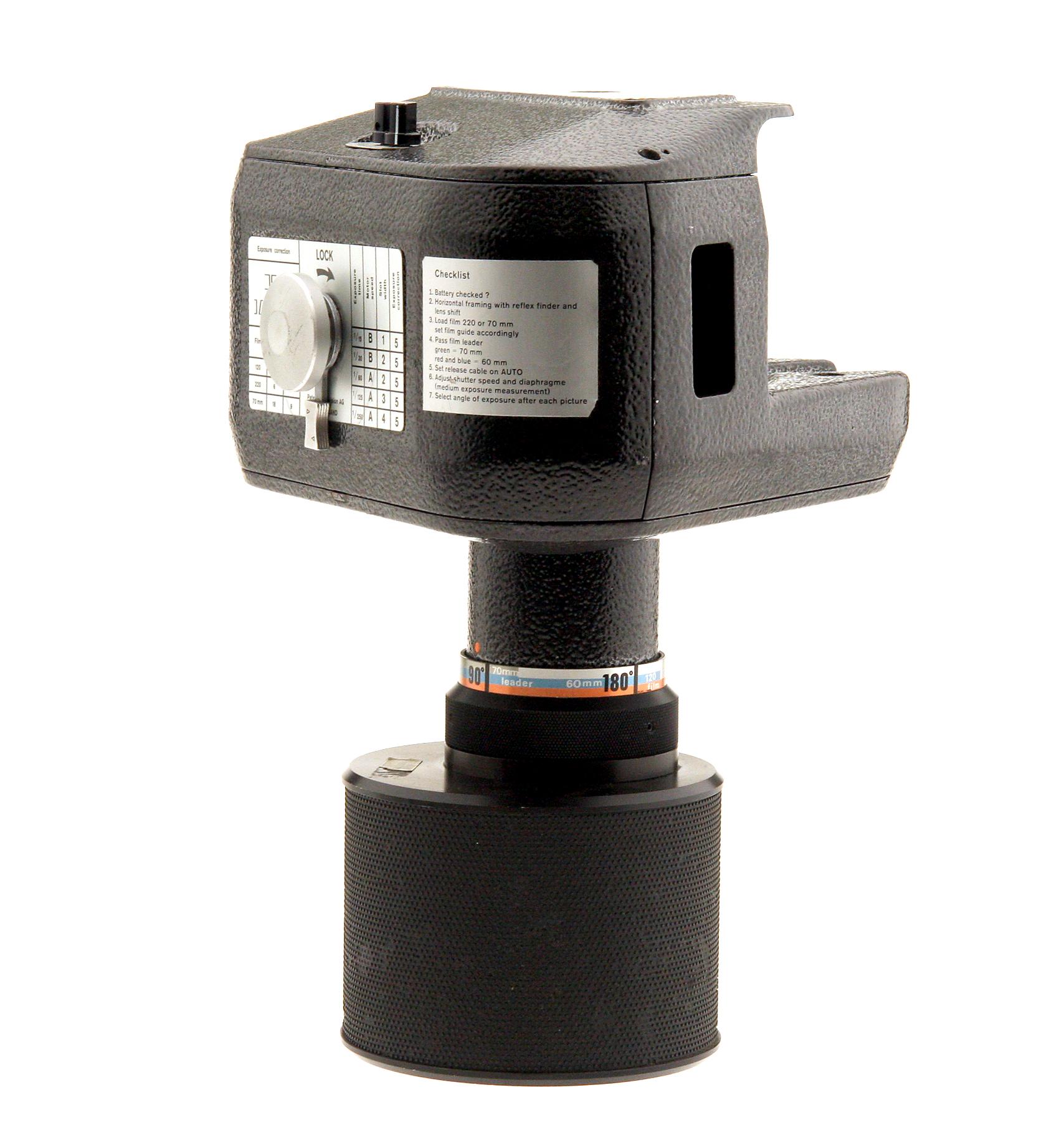 Rotocamera 6070 Panoramic Camera  75mm F6.8 Rodenstock Lens Used