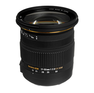 Sigma 17-50mm f/2.8 Wide Angle Zoom Lens for Canon Cameras
