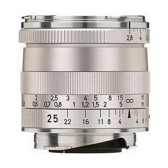 Zeiss | Wide Angle 25mm f/2.8 Biogon T* ZM Manual Focus Lens (Silver) | 1365652