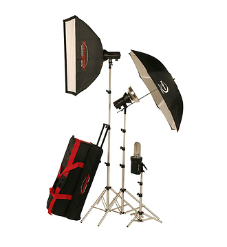 AKC850K StudioMax 800W/S Portrait Studio 3 Light Soft Box Kit