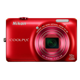 Coolpix S6300 Digital Camera (Red)