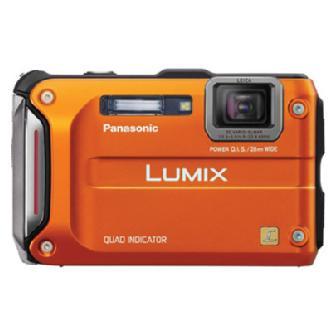 Lumix DMC-TS4 Digital Camera (Orange)