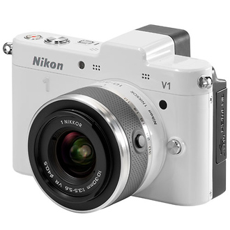 Nikon | 1 V1 Mirrorless Digital Camera with 10-30mm VR Lens (White) | 27506