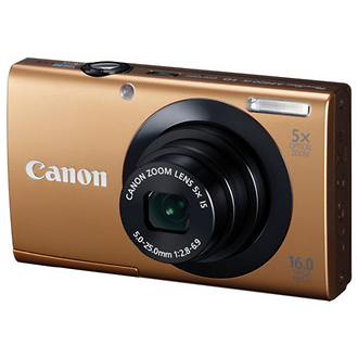 PowerShot A3400 IS Digital Camera (Gold)