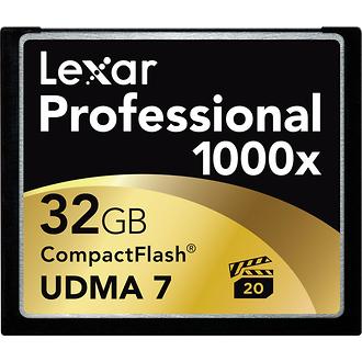 Lexar Media | 32GB CompactFlash Memory Card Professional 1000x UDMA | LCF32GCTBNA1000