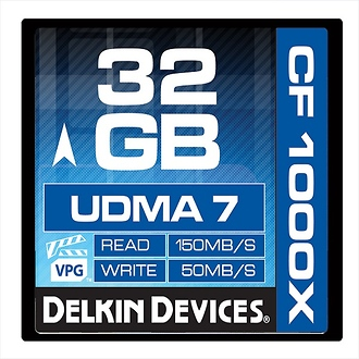 Delkin Devices | 32GB CF 1000X UDMA 7 Memory