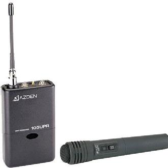 Azden | 105HT - 105 Series UHF Wireless Microphone System with 15HT Handheld Transmitter | 105HT