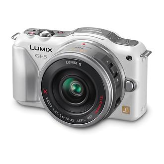 Panasonic   Lumix DMC-GF5X Digital Micro Four Thirds Camera with 14-42mm Lens (White)   DMCGF5XW