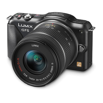 Panasonic | Lumix DMC-GF5 Digital Micro Four Thirds Camera with 14-42mm Lens (Black) | DMCGF5KK