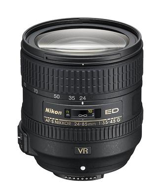 AF-S 24-85mm f/3.5-4.5G ED VR Nikkor Lens