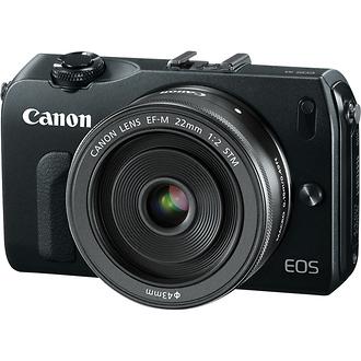 EOS-M Mirrorless Digital Camera with EF-M 22mm f/2 STM Lens (Black)