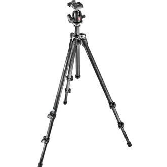 Manfrotto 3 Section Carbon Fiber Tripod Kit with Quick Release Ball Head