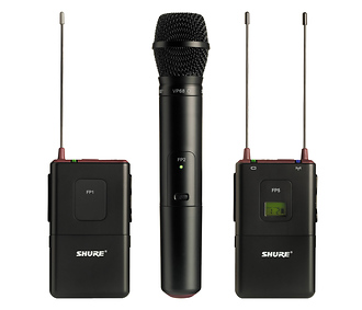 Shure | FP Wireless Bodypack & Handheld Combo System (G4 / 470 - 494MHz) | FP12583SM58G4