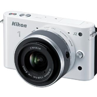 1 J2 Mirrorless Digital Camera with 10-30mm VR Zoom Lens - White