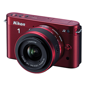 Nikon | 1 J2 Mirrorless Digital Camera with 10-30mm VR Zoom Lens - Red | 27575