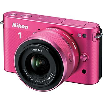 Nikon | 1 J2 Mirrorless Digital Camera with 10-30mm VR Zoom Lens - Pink | 27576