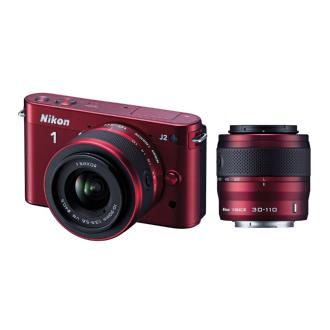 Nikon | 1 J2 Mirrorless Digital Camera with 10-30mm & 30-110mm Lens - Red | 27587