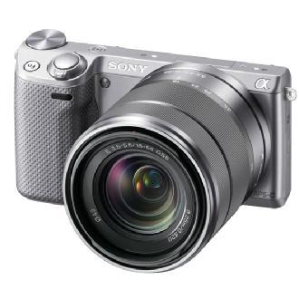 Sony | Alpha NEX-5R Digital Camera with 18-55mm f/3.5-5.6 E-mount Zoom Lens (Silver) | NEX5RKS