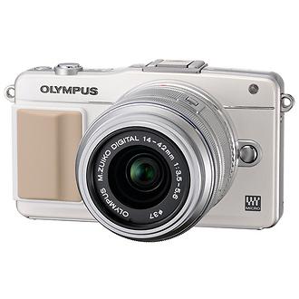 Olympus | E-PM2 Digital Camera with 14-42mm 2R Zoom Lens (White) | V206021WU000