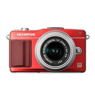 Olympus | E-PM2 Digital Camera with 14-42mm 2R Zoom Lens (Red) | V206021RU000