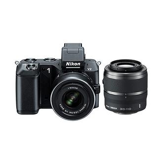 Nikon | 1 V2 Mirrorless Digital Camera with 1 NIKKOR VR 10-30mm and 30-110mm Lenses (Black) | 27606