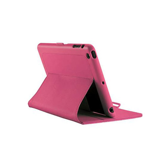Speck | iPad Mini FitFolio Case in Vegan Leather Raspberry Pink | SPKA1520