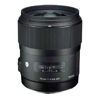 Sigma | 35mm f/1.4 DG HSM A1 Lens for Nikon Cameras | 340306