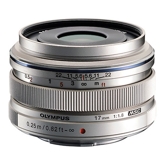 Olympus | 17mm f/1.8 M.ZUIKO Wide-Angle Lens for Micro Four Thirds Mount (Sliver) | V311050SU000