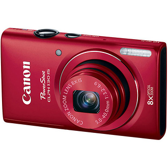 Canon | PowerShot ELPH 130 IS Digital Camera (Red) | 8197B001