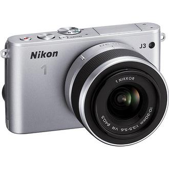 Nikon   1 J3 Mirrorless Digital Camera with 10-30mm VR Lens (Silver)   27640