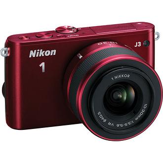 Nikon | 1 J3 Mirrorless Digital Camera with 10-30mm VR Lens (Red) | 27639