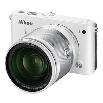 Nikon | 1 J3 Mirrorless Digital Camera with 10-100mm Lens (White) | 27658