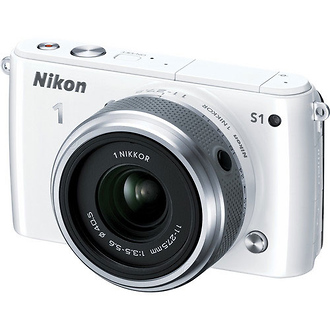 Nikon | 1 S1 Mirrorless Digital Camera with 11-27.5mm Lens (White) | 27618